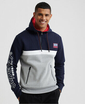 Superdry Mens Crafted Block Half Zip Hoodie