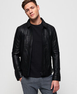 Superdry Mens Curtis Leather Jacket