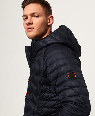 Superdry Mens Down Radar Mix Quilted Jacket