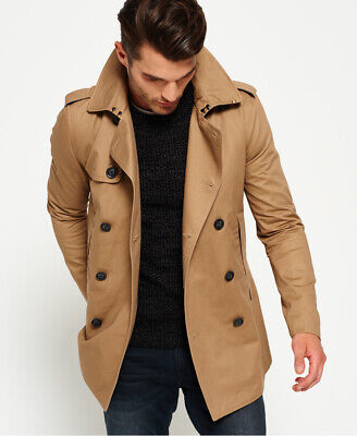 Superdry Mens Remastered Rogue Trench Coat