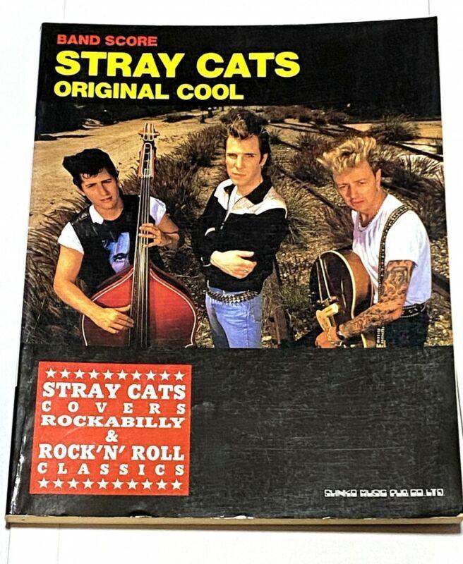 Stray Cats Original Cool Japan Band Score Song Book Guitar Tab Brian Setzer