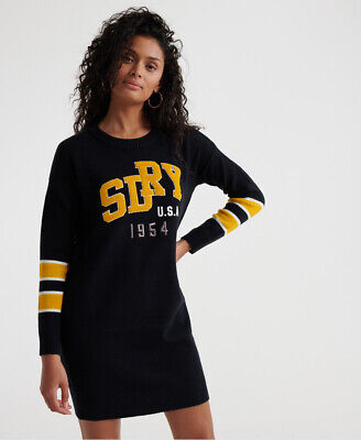 Superdry Womens Superdry Womens Applique Logo Knit Dress
