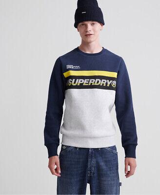 Superdry Mens Worldwide Panel Crew Sweatshirt