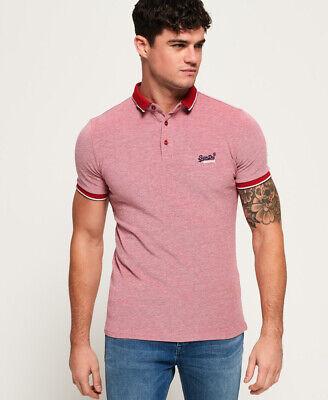 Superdry Mens City Oxford Pique Polo Shirt