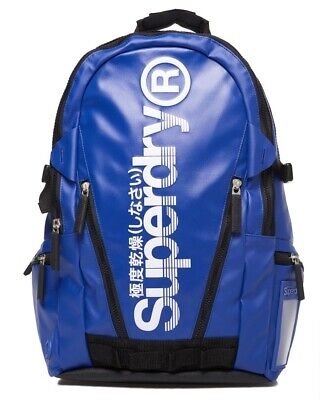 Superdry Sonic Tarp Pop Zip Backpack One Size Blue