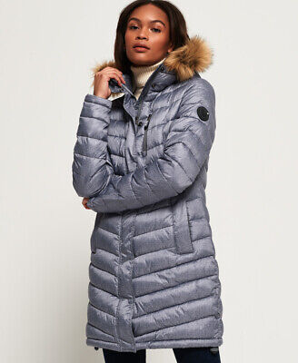 Superdry Womens Chevron Faux Fur Super Fuji Jacket