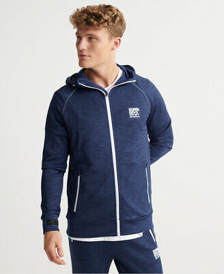 Superdry Mens Training Zip Hoodie