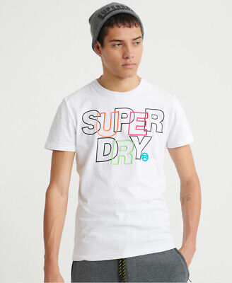Superdry Mens International Embroidery Interlock T-Shirt