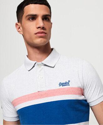 Superdry Mens Classic Hardwick Stripe Polo Shirt