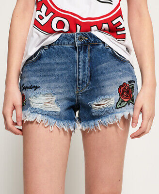 Superdry Womens Eliza Cut Off Denim Shorts