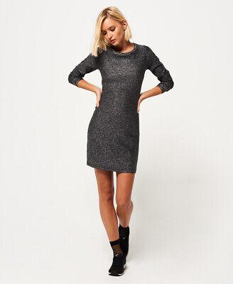 Superdry Womens Metallic Zip Back Knit Dress