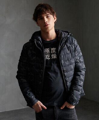 Superdry Mens Tweed Double Zip Fuji Jacket