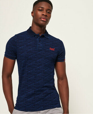 Superdry Mens City All Over Print Polo Shirt