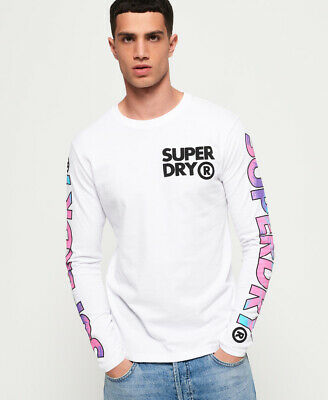 Superdry Mens Echo Beach Long Sleeve T-Shirt