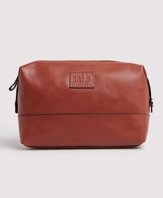 Superdry Mens Premium Leather Washbag
