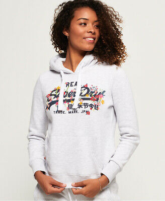 Superdry Womens Vintage Logo Puff Embroidery Hoodie