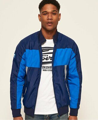 Superdry Otis Padded Track Jacket Classic Blue Size Small S