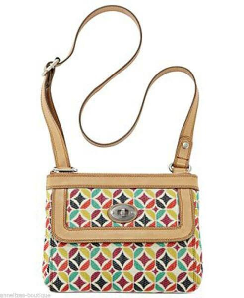 FOSSIL MARLOW MULTI-COLOUR TOP ZIP SLING BAG