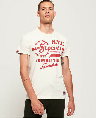 Superdry Mens Demolition Crew T-Shirt