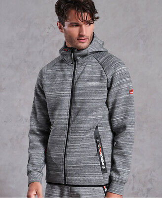 Superdry Mens Gym Tech Stretch Zip Hoodie