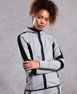 Superdry Womens Core Gym Tech Panel Zip Hoodie