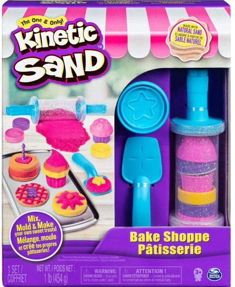 Kinetic Sand Bäckerei Spielset Spielzeug Kinder 1 Ausroller mit 2 Förmchen