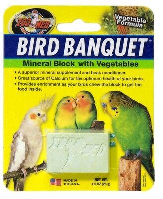 Zoo Med Labs Supplement Bird Banquet Mineral Block Veggie Formula Small Calcium