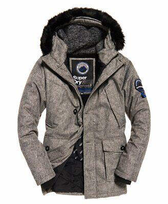 """Superdry Mens Everest Tweed Parka Jacket Size: L 40"""" (102cm) RRP £149.99"""