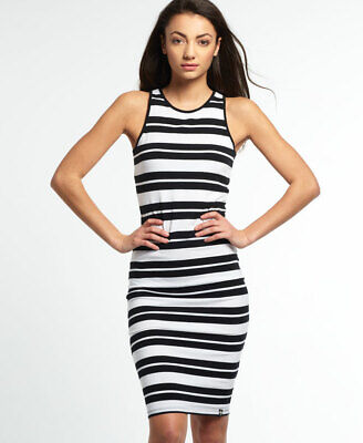 Superdry Womens Starboard Stripe Midi Dress