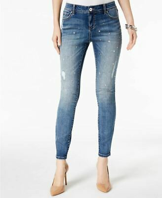 - INC International Concepts Embellished Skinny Jeans Indigo 6