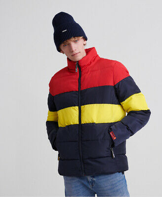 Superdry Mens Colour Stripe Sports Puffer Jacket