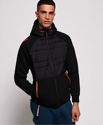 Superdry Mens Gym Tech Stretch Hybrid Hoodie