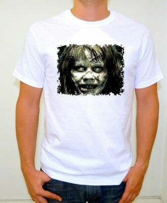 THE EXORCIST CREEPY FACE FOR HALLOWEEN T-SHIRT ADULT SIZE MEDIUM