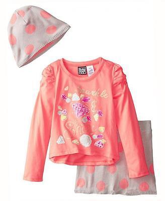 Pogo Club Big Girls Light Peach Top 3Pc Skirt Set Size 7 8 10 12 14 16  48