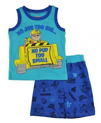 Blue Toddler Two Piece - Paw Patrol Toddler Boys Blue Tank Top Two-Piece Short Set Size 2T 3T 4T