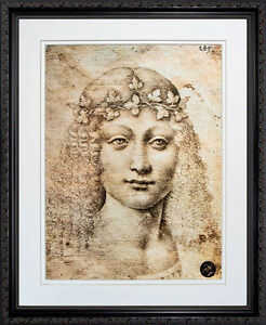 Young-Bacchus-Giovane-Bacco-by-Leonardo-da-Vinci-Framed-Poster-Black    Bacchus Da Vinci