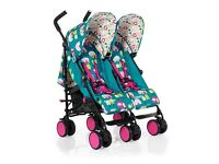 NEW COSATTO SUPA DUPA TWIN DOUBLE BUGGY STROLLER PUSHCHAIR BRAND NEW HAPPY CAMPERS NEW
