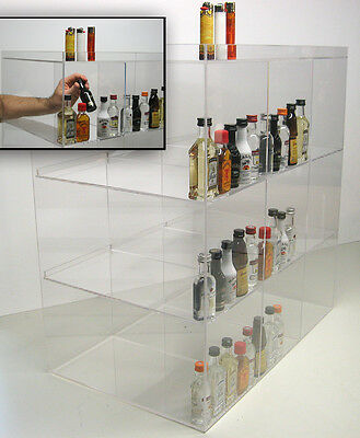 Commercial Display Case Mini Sampler 50ml Liquor And Shot Bottles Nips Airplane