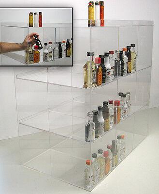 Commercial Display Case Mini Sampler 50ml Liquor And Shot Bottles Nips Airplane