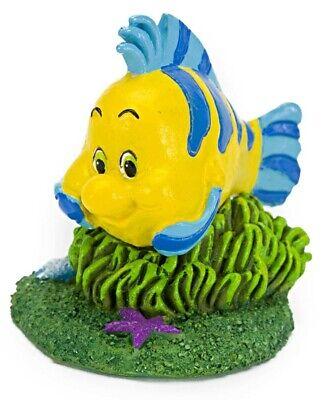 THE LITTLE MERMAID AQUARIUM DECORATION - FLOUNDER Disney Fish Tank Ornament covid 19 (Mermaid Aquarium Ornament coronavirus)