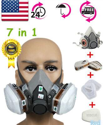 6200 N95 Half Face Dust Gas Mask Safety Painting Spraying Respirator Cartridge