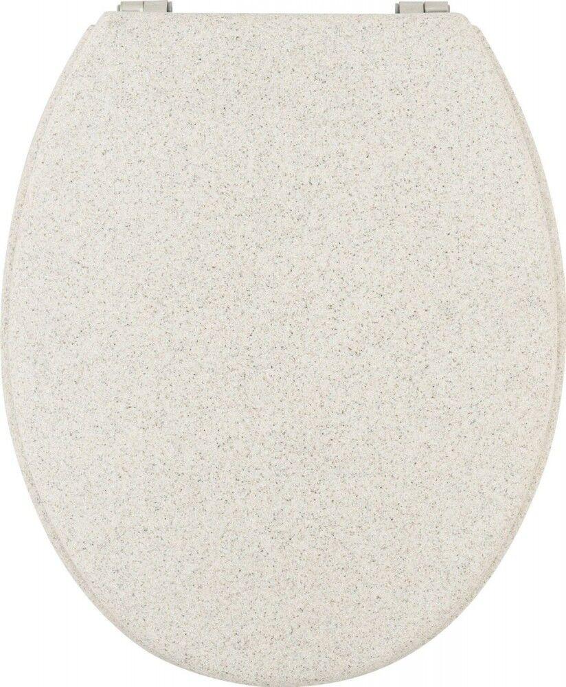 WC-Sitz GRANIT B-Ware 44 x 36 cm Steinoptik TOILETTENDECKEL KLODECKEL KLOBRILLE