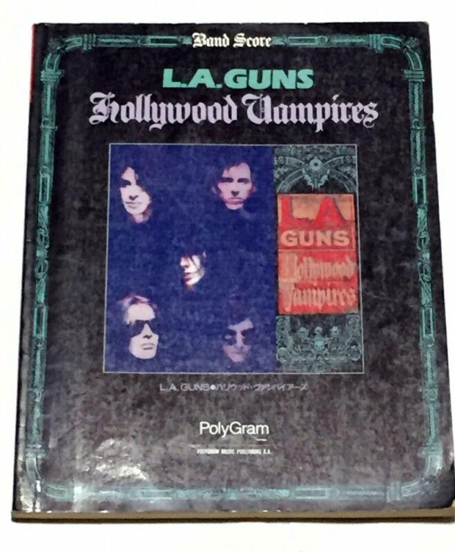 L.A.GUNS Hollywood Vampires Japan Band Score Guitar Tab Tracii Guns Phil Lewis