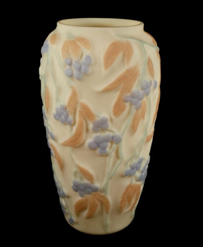 VINTAGE CONSOLIDATED CUSTARD ART GLASS VASE BITTERSWEET DECORATION IN 3 COLORS