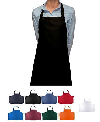 - 12 new statex brand bib aprons 8 colors commercial chefs grade premium polyester