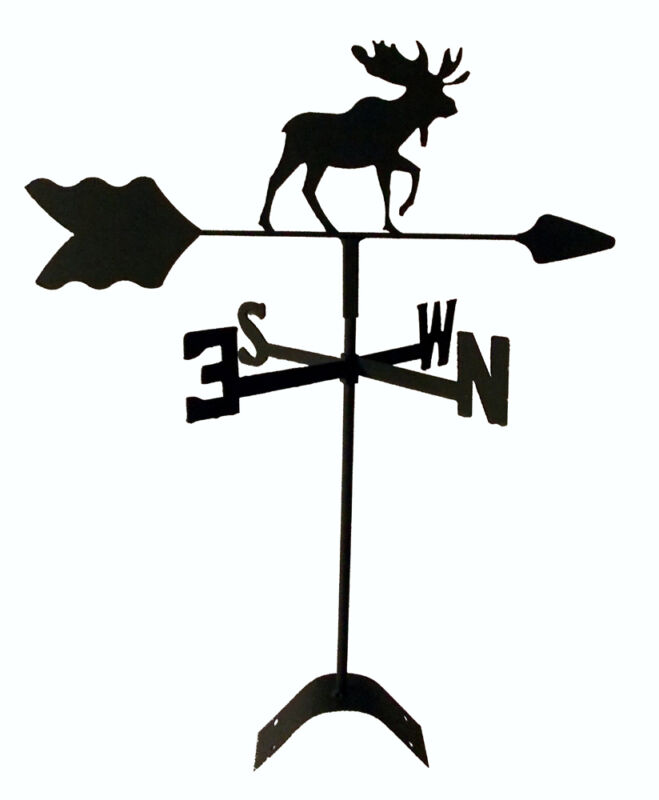 moose roof mount  weathervane black wrought iron look made in usaTLS1030RM