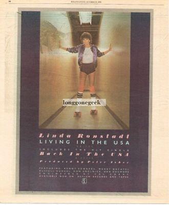 1978  LINDA RONSTADT Living In The USA Vtg Album Promo Print Ad