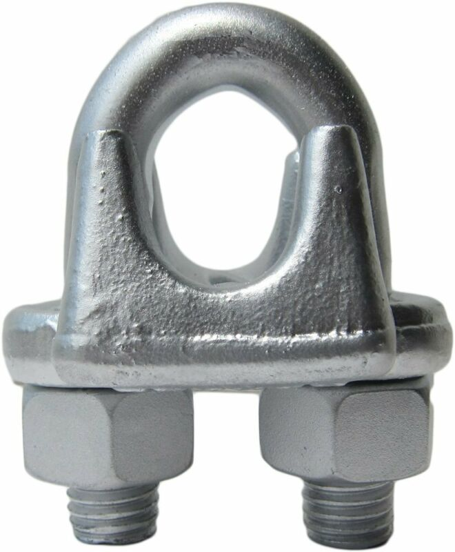 """1/2"""" Drop Forged Heavy Duty Galvanized Wire Rope Clips (10-Pack)"""