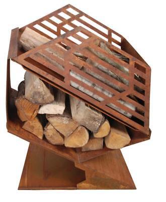 Terrassenofen m. Brennholzfach,Feuerkorb,Feuerschale.Esschert Design Sonderpreis