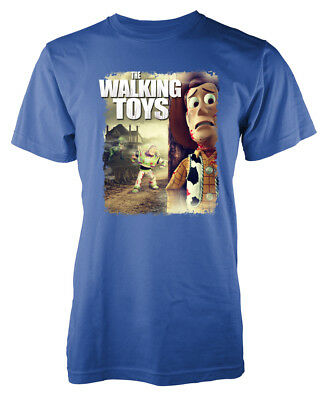 The Walking Dead Toys Woody Buzz Toy Story inspired mashup Adult T-Shirt